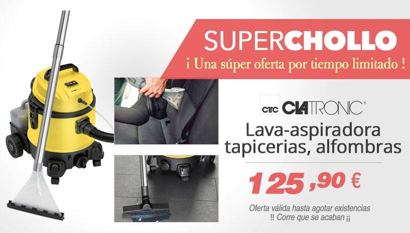 Oferta Super Chollo Lava aspiradora limpiador de tapicerias, moquetas, alfombras Clatronic BSS 1309
