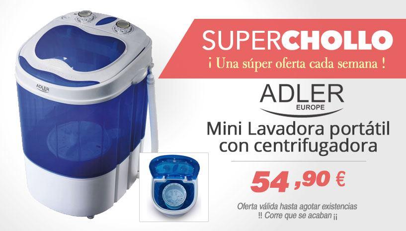 Oferta Mini Lavadora portátil para camping caravana Adler AD 8051