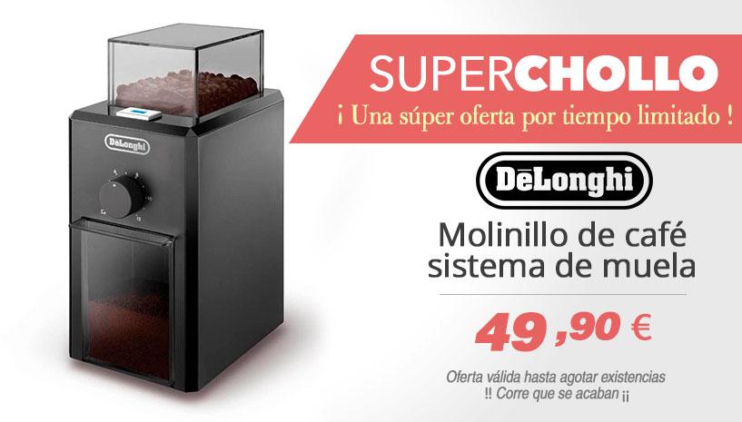 Oferta Delonghi KG 79 - Molinillo de café profesional eléctrico con sistema de muelas, ajuste de molienda