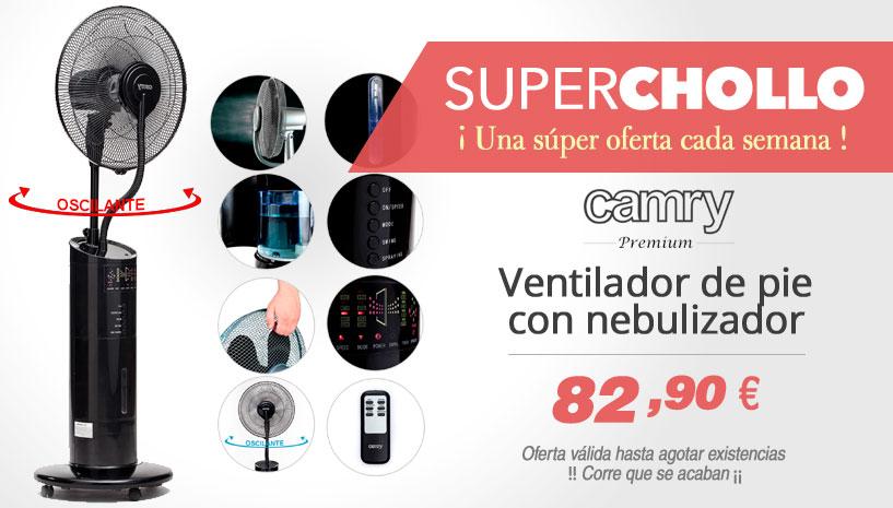 Oferta Ventilador nebulizador pulverizador de agua camry cr 7316