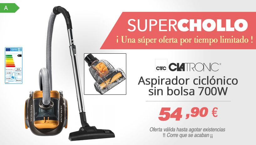 Oferta Super Chollo aspirador ciclonico Clatronic BS 1304
