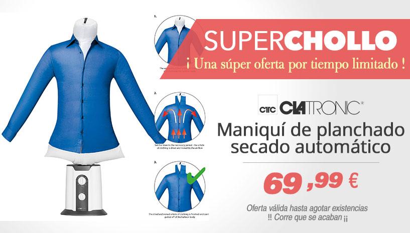 Oferta Super Chollo maniqui de planchado y secado de camisas y blusas Clatronic HBB 3707